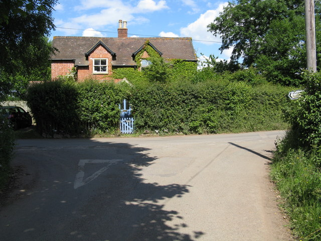 House at Moorend Cross junction