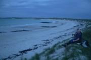 Traigh Chronaig beach at night