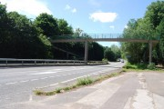 Footbridge over the A25 near Ightham