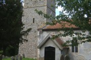 Church tower and porch, St Michael South Elmham