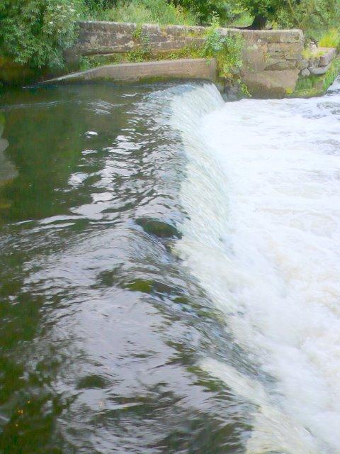 Mill weir, Saxon Mill, Warwick