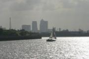 Thamesmead: Canary Wharf view