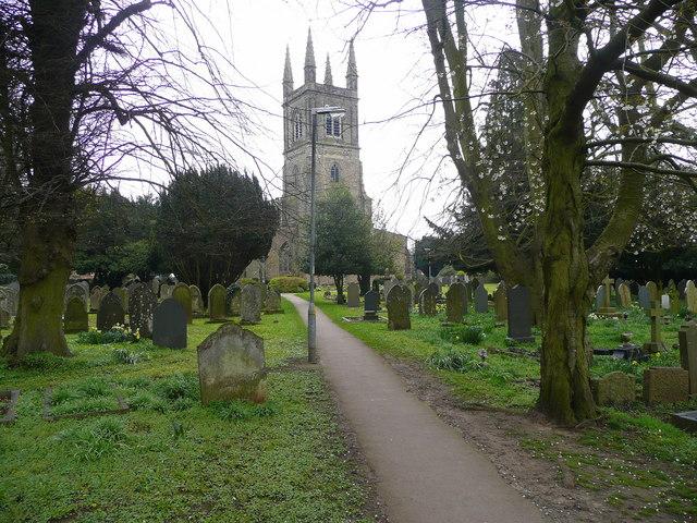 Footpath through the churchyard