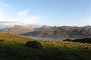 Loch Maree and Torridon hills.