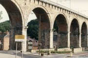 Durham Railway Viaduct and road layout beneath