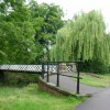 Footbridge over the river Leam