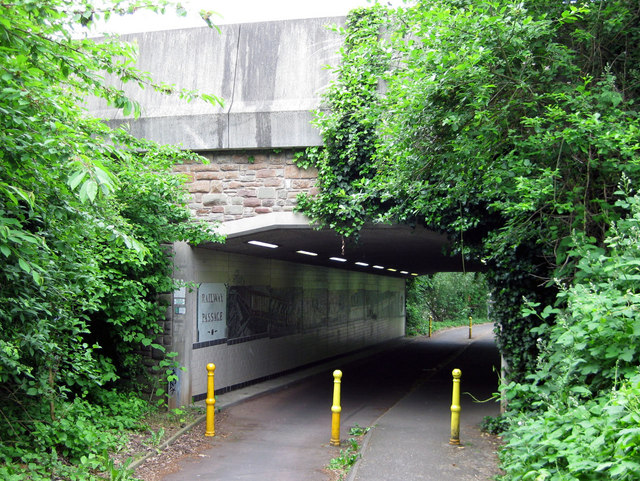 Bridge over the cycle path