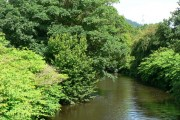 River Ely from bridge on the A4222 at Pontyclun.