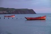 Boats off Borth beach