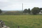 View over farmland at Llwyndu Mawr towards Caernarfon Bay