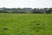 Fields with houses in distance