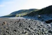 Campsite and rocky beach