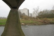 Kersal Flats from under the bridge