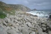 Big pebbles at St Loy