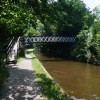 Bridge carrying Offa's Dyke Path over the Llangollen Canal