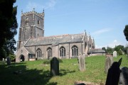 Landulph church in the hot summer sun