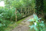 Bridge over stream on bridleway