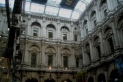 Looking up to the upper tiers of The Royal Exchange