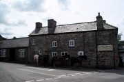 Felindre: lunchtime at The Three Horseshoes (with four horses)