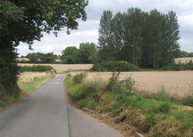 Rede Lane passing Rede Wood