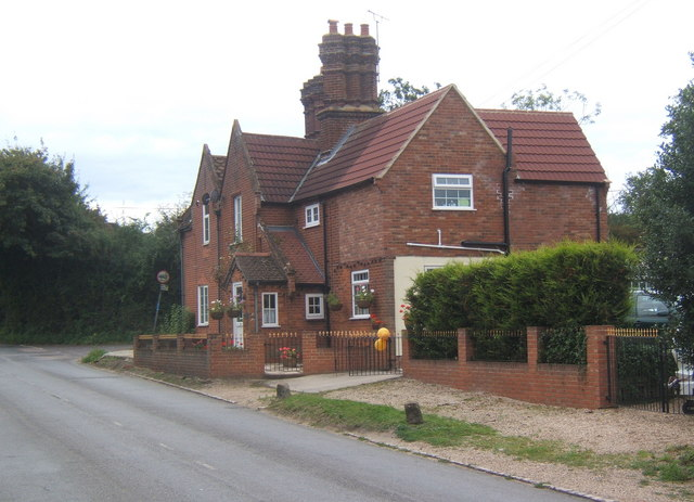 Large red brick house by Henley Road