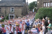 Rushcart arrives in Dobcross