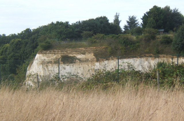 Former quarry face, Claydon