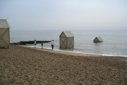 Art installation on Felixstowe Beach