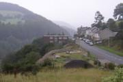 Village of Braich y Cymmer on A4064