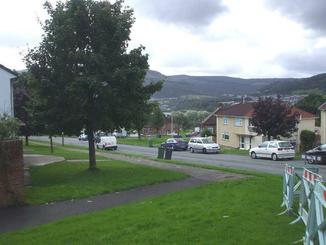 Bro Deg, Cwmbach, from the junction with Cefnpennar Rd