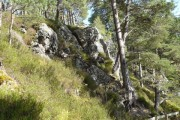 Rock outcrops at Foyers