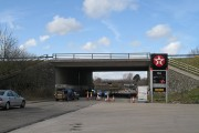 The M6 crossing the A65, Crooklands