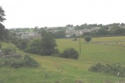 View west towards the village of Bontnewydd