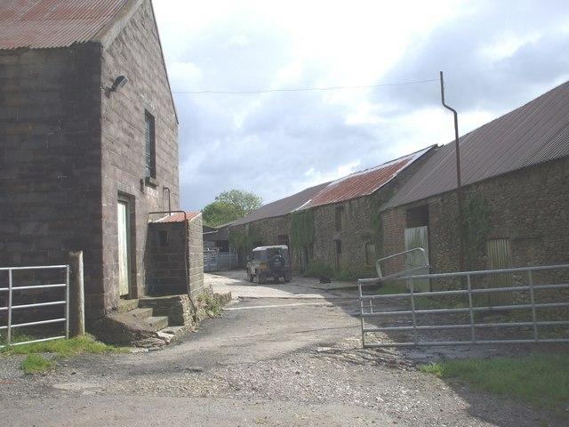 Farm buildings at Hendre-Forgan Farm, nr Gilfach Goch