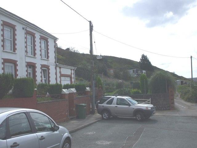 Southern end of Glamorgan Terrace, Gilfach Goch