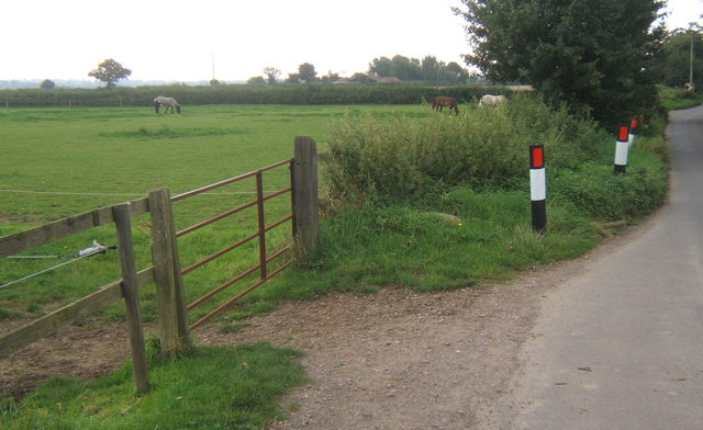 Field by lane from Claydon to the Henley road