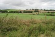 View across farmland towards Newbarn