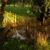 Bridge, stream and gate, Old Country Farm