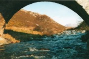 Rhiconich River through the bridge