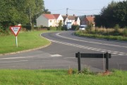 A134 curving north through Alpheton