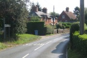 B1066 entering Boxted from the north