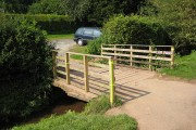 Bridge to the car park