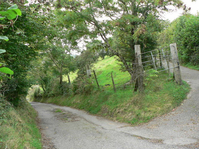 Lane up the hillside above Thomastown
