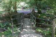 Footbridge beside the ford in Dimbath Lane