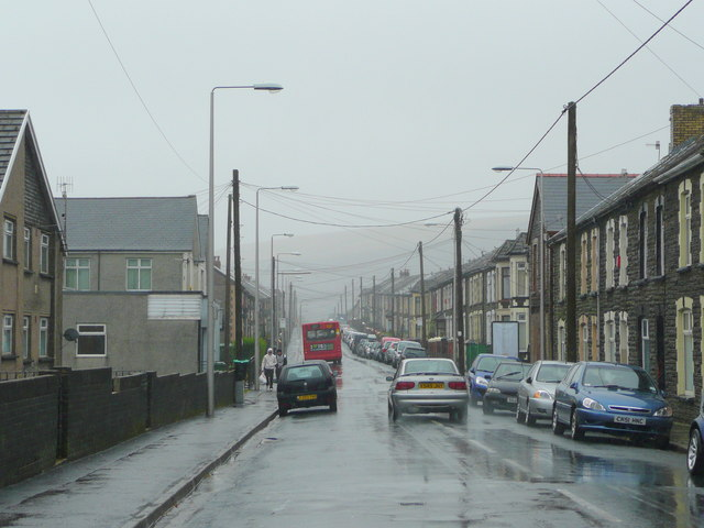 A wet afternoon in Maerdy