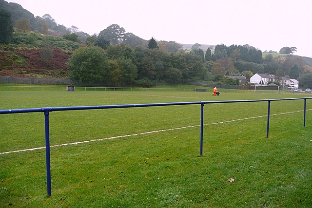 Wet pitch at Penygraig