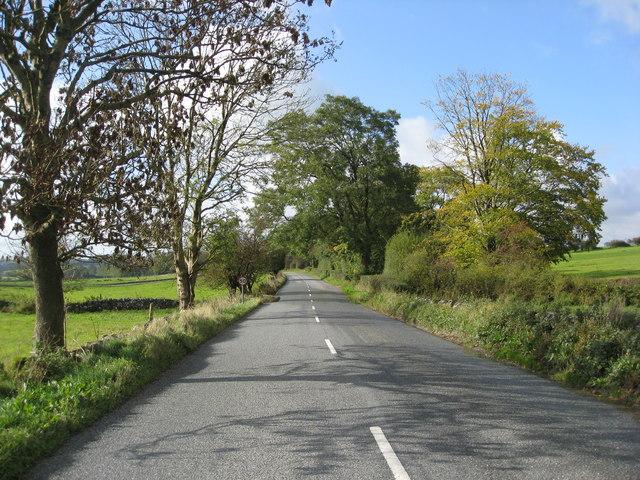 B5056 Approaching Dulands Farm