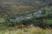 View of Blaencwm from the Penpych Path