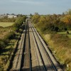 The Birmingham to Chelteham railway near Fiddington