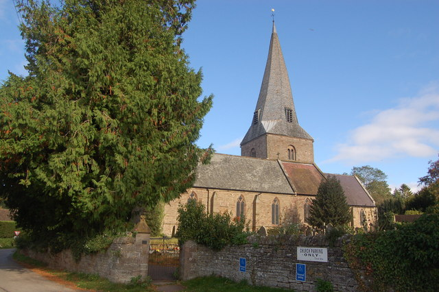 St Mary's church at Fownhope